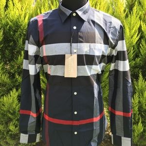 new BURBERRY LONDON ENGLAND SHIRT %100 COTTON NWT